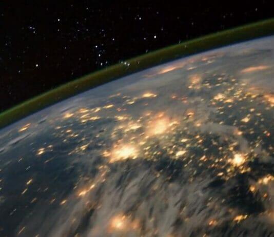 Erde bei Nacht Weltraum Zeitraffer
