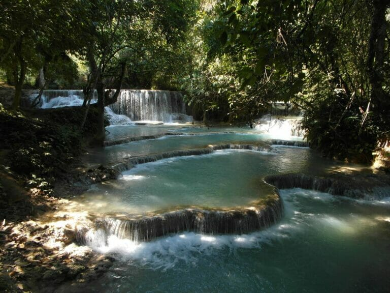 Tat Kuang Si Wasserfall, Laos