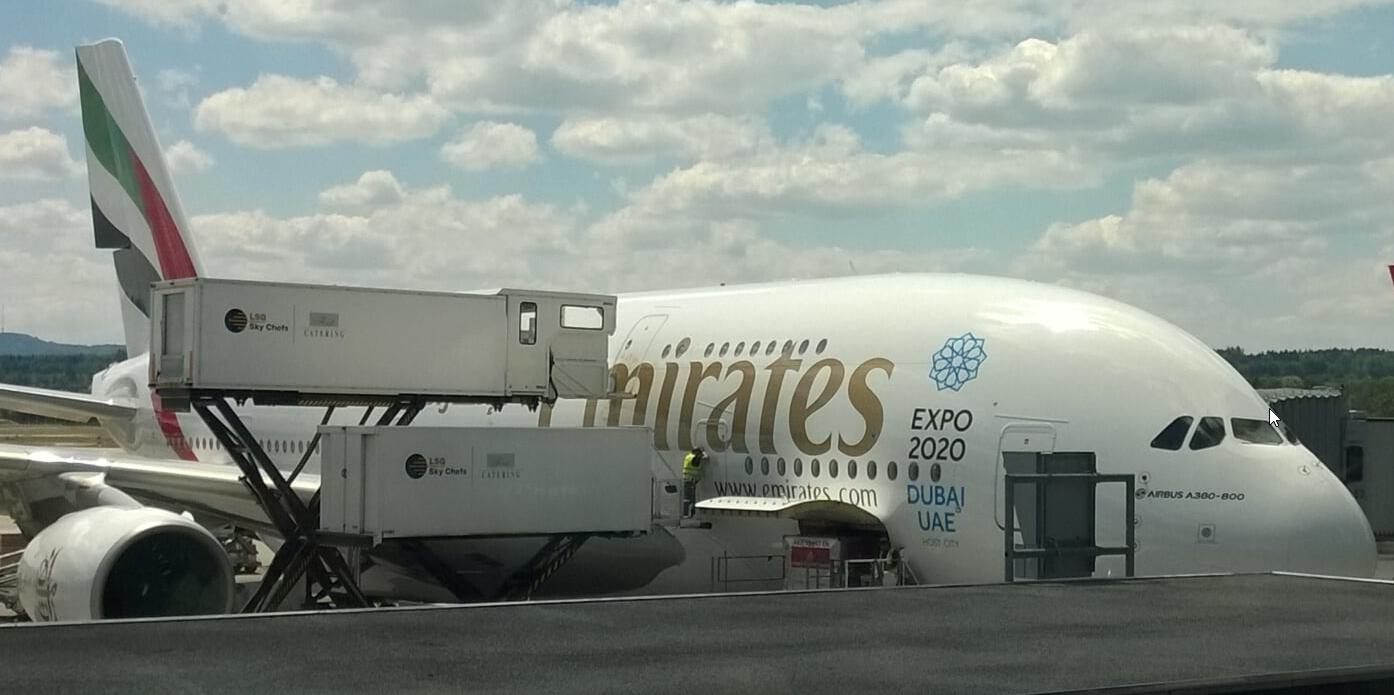 Emirates A380 Zurich