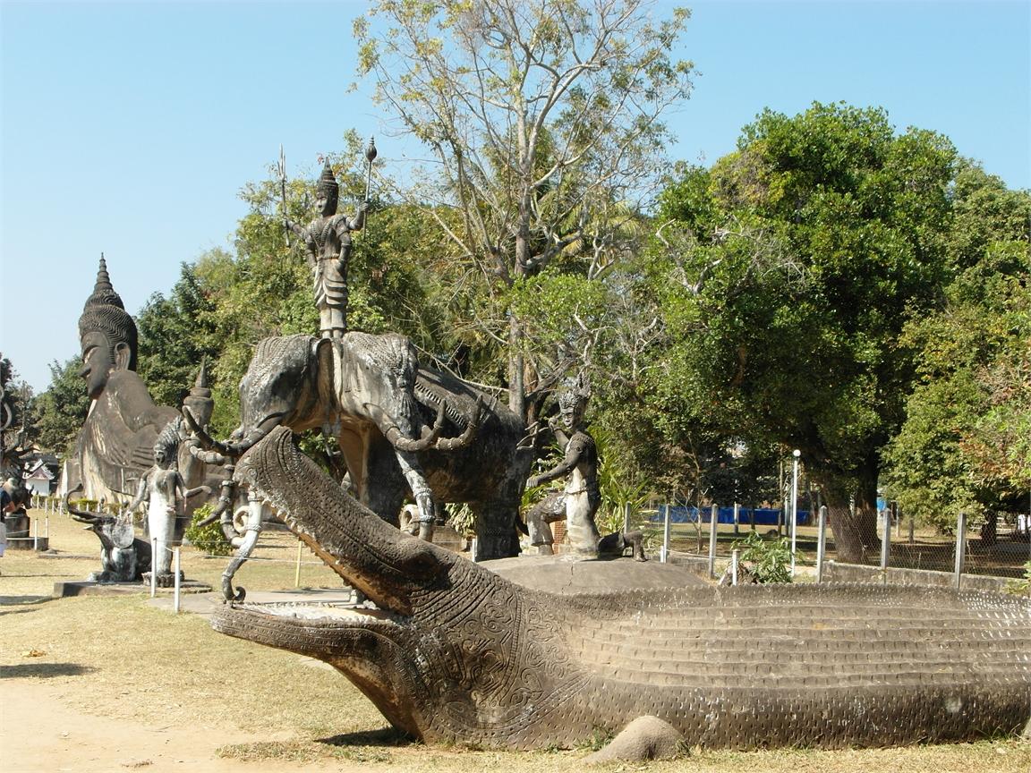Vientiane Laos Buddha Par 1801