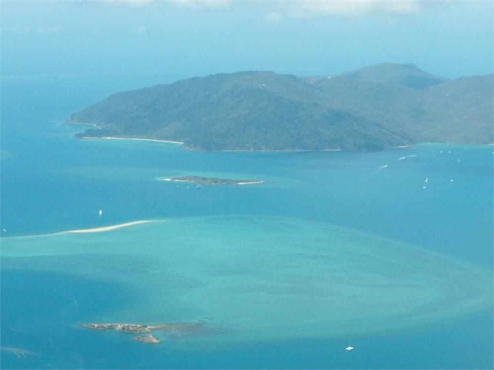 whitsunday islands flug korallenriff 0488
