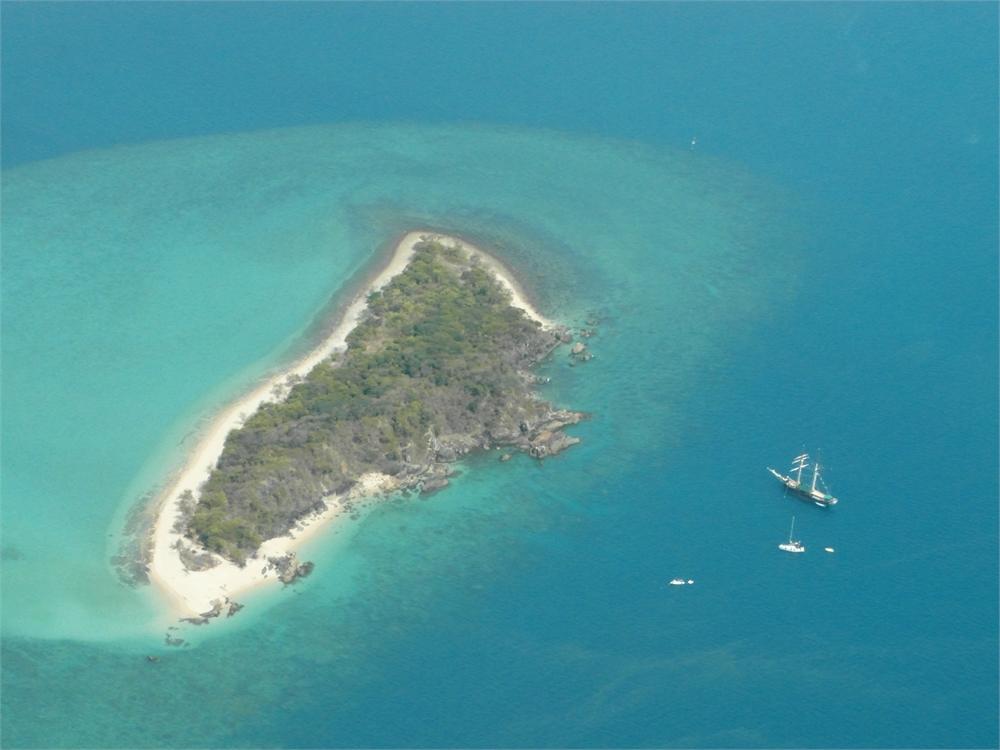 whitsunday islands flug korallenriff 0490