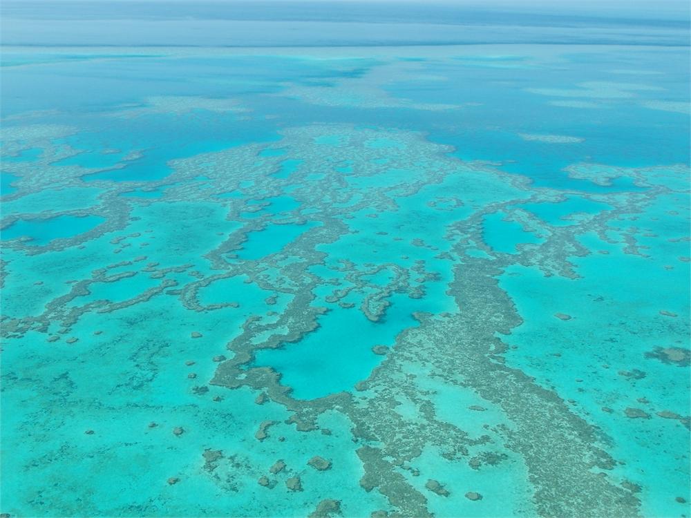 whitsunday islands flug korallenriff 0517