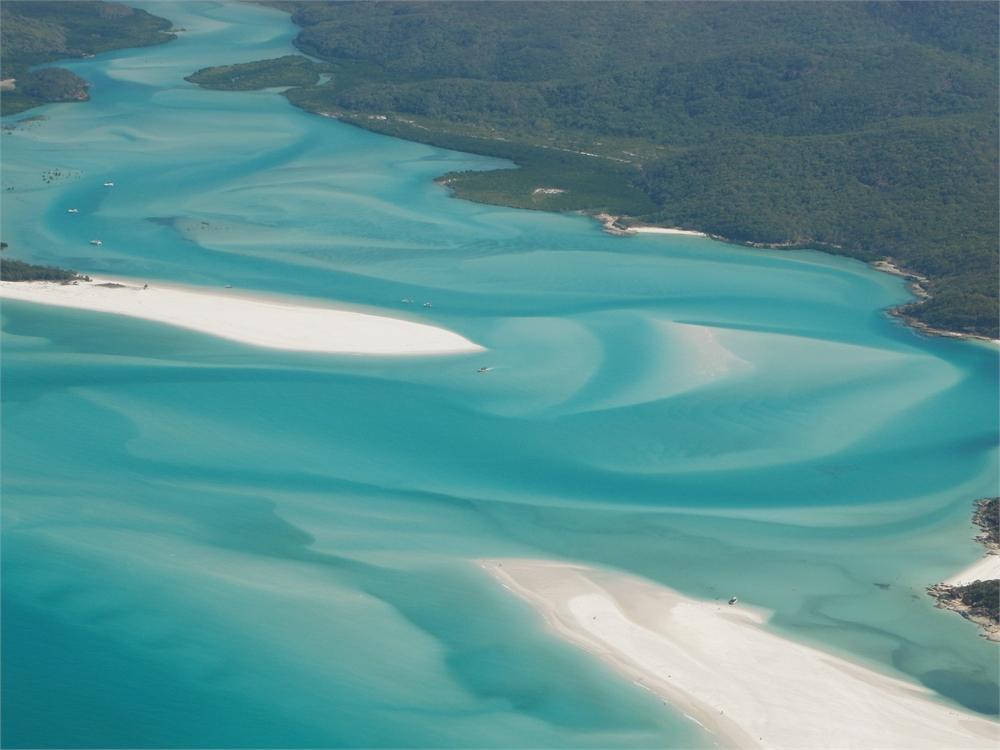 whitsunday islands flug korallenriff 0526