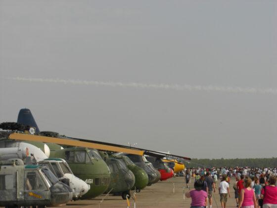 Auf dem Weg zur Flugshow