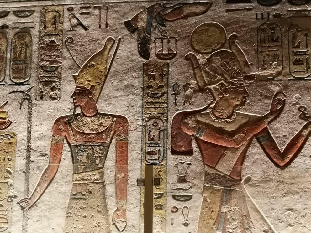 Wandmalerei im Grab
