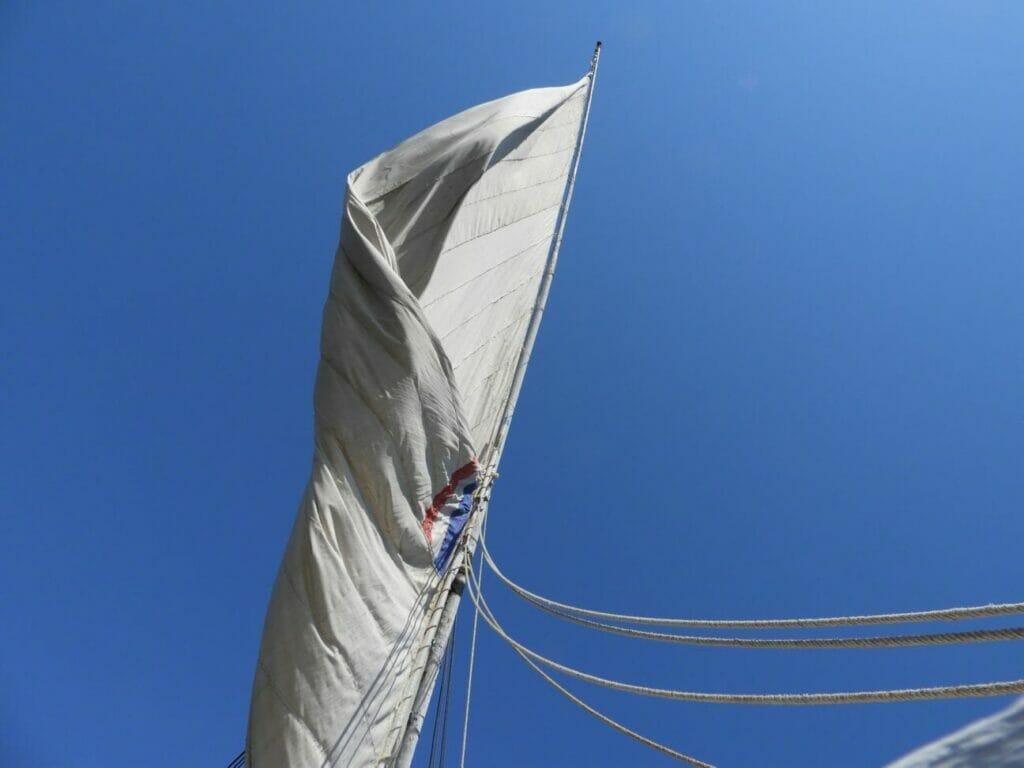 Segel im Wind