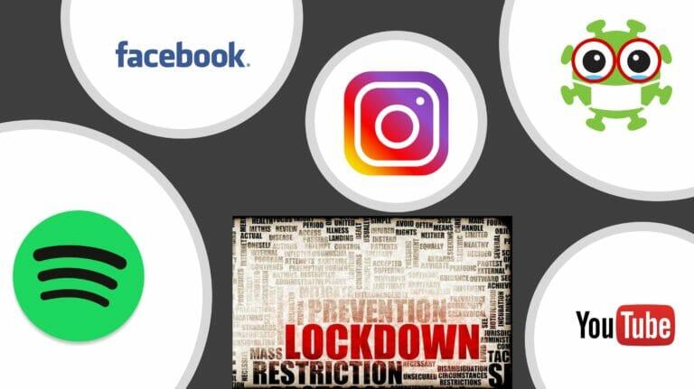 Mit Social Media gut unterhalten durch den (Teil-)Lockdown